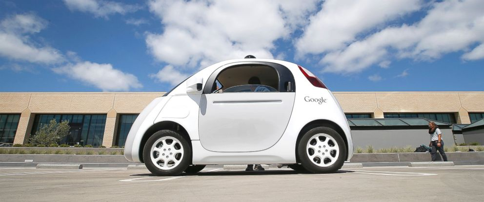 PHOTO: Googles new self-driving prototype is presented during a demonstration at Google campus in Mountain View, Calif, May 13, 2015.