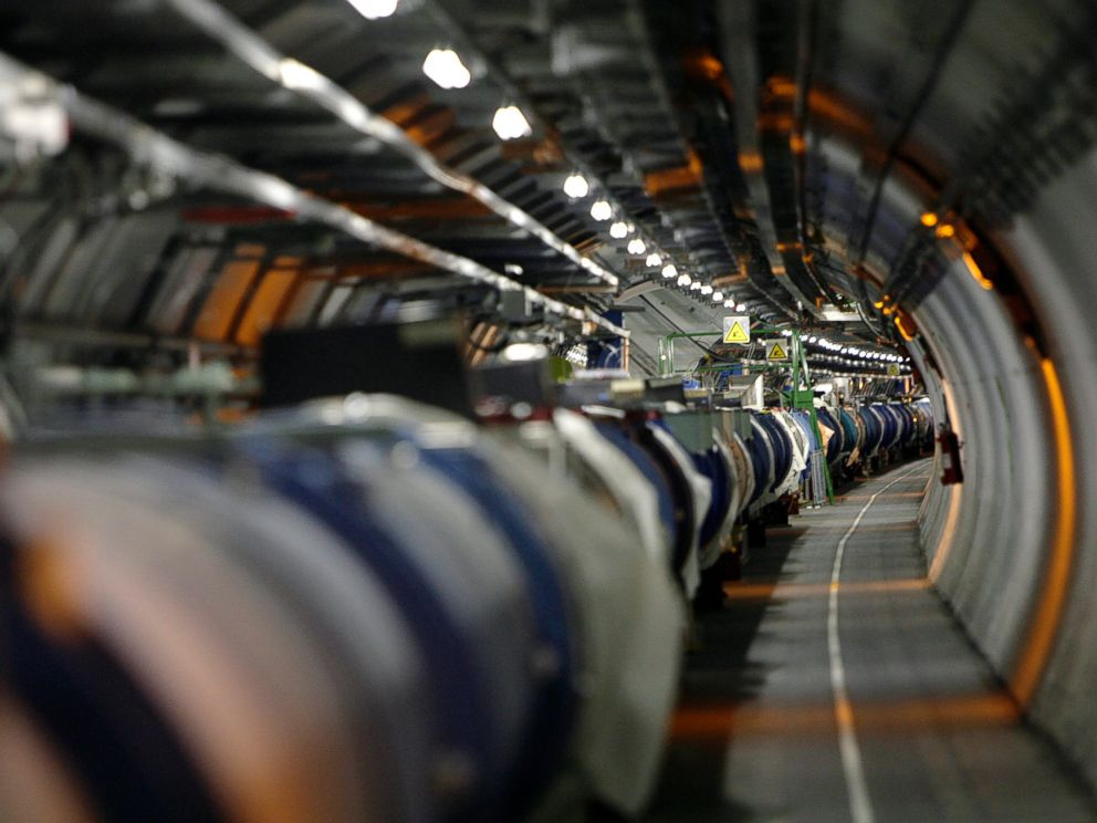 PHOTO: A May 31, 2007 file photo shows the the LHC (large hadron collider) in its tunnel at CERN