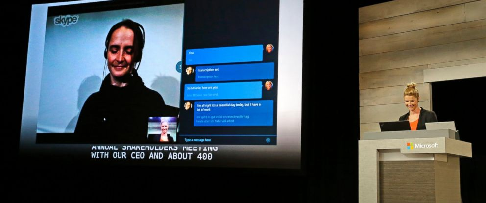 PHOTO: Skype Internet telecommunications software that translates spoken foreign language to both text and speech.