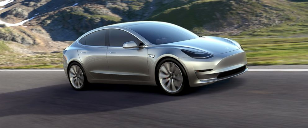 PHOTO: This undated photo provided by Tesla Motors shows the Model 3 car.