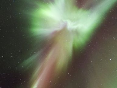 Man Spots Christ in the Northern Lights