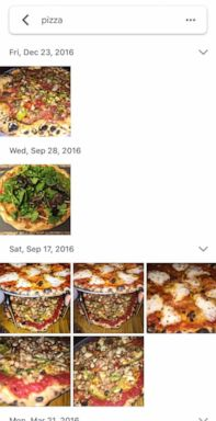 PHOTO: Google Photos search by word function in the app.