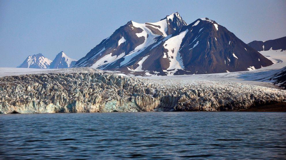Billefjorden Glacier on the Svalbard Islands, Norway.