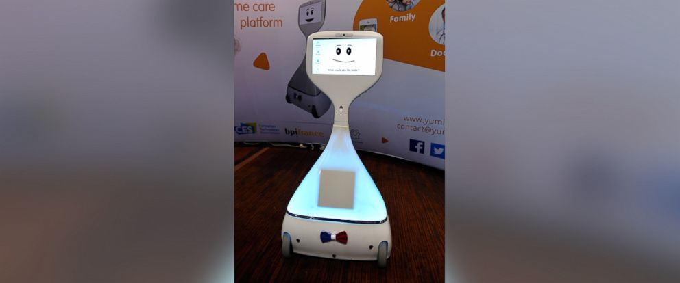 PHOTO: Cutii, a companion home robot by Yumii is displayed during a press event for CES 2017 at the Mandalay Bay Convention Center, Jan. 3, 2017 in Las Vegas.