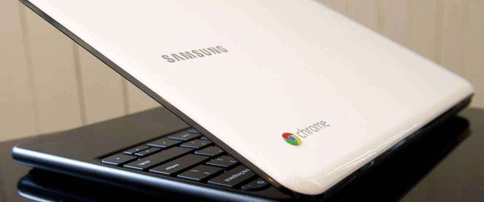 PHOTO: Google Inc. Chrome logo seen on a Chromebook in San Francisco, California.