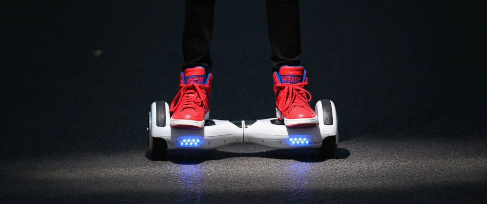 PHOTO:A youth poses as he rides a hoverboard, Oct. 13, 2015, in Knutsford, England