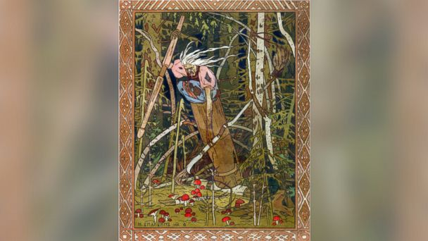 PHOTO: Baba Yaga is shown in this illustration from the book Vasilisa the Beautiful, 1900.