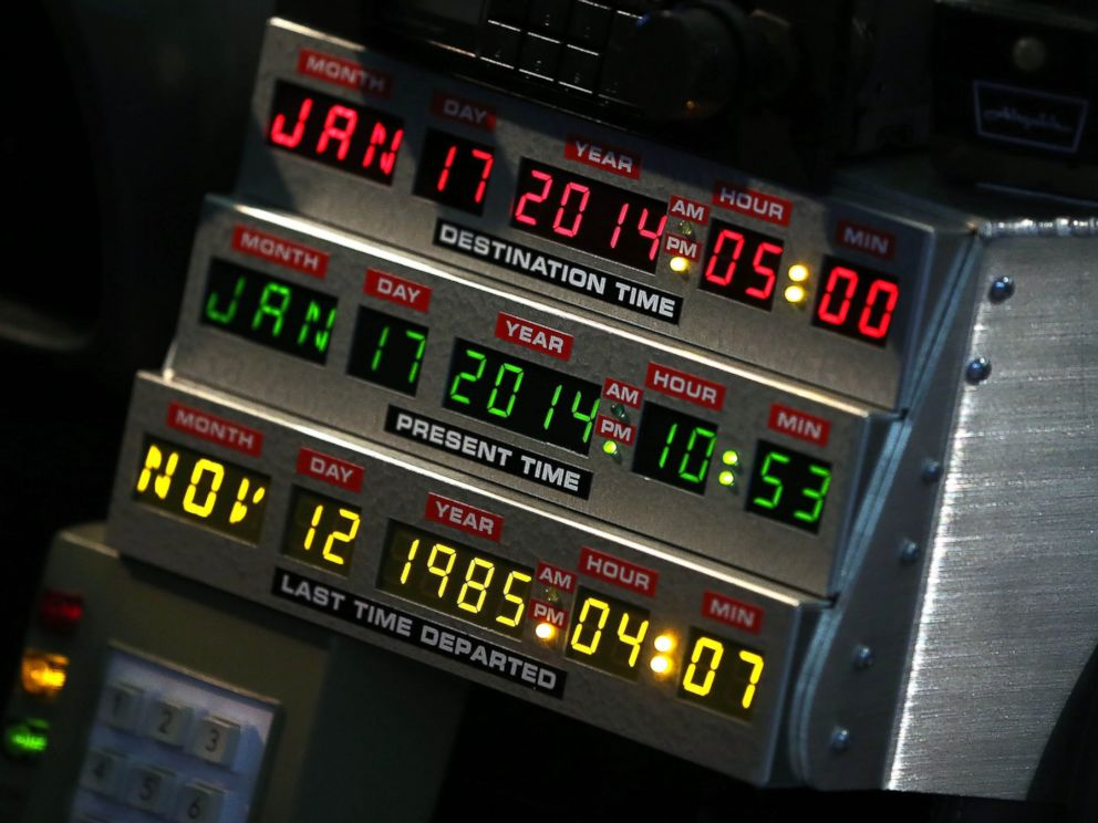 PHOTO: The interior of the DeLorean DMC-12 from Back to the Future II is pictured in Detroit on Jan. 14, 2014.