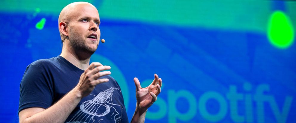 PHOTO: Daniel Ek, CEO and Founder of Spotify, speaks at a media event announcing updates to the music streaming application Spotify, May 20, 2015, in New York.