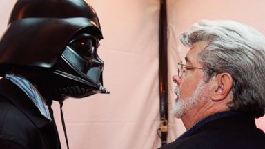 PHOTO: Jett Lucas has fun with his dad, George Lucas, as the attend the after party of the San Francisco World Premiere of Star Wars: Episode III Revenge of the Sith at the Loews Theaters Metreon in San Francisco, May 12, 2005.