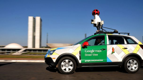 PHOTO: The Google street view mapping and camera vehicle drives in front of the National Congress as it charts the streets of Brasília, Brazils capital, in this Sept. 6, file photo 2011.