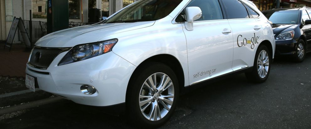 PHOTO: Googles Lexus RX 450H Self Driving Car is seen parked on Pennsylvania Ave., April 23, 2014, in Washington.