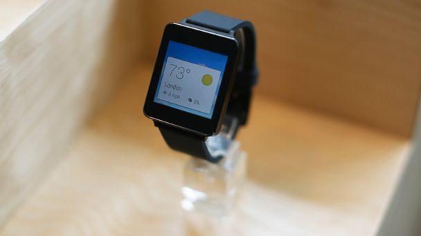 PHOTO: A LG G watch is seen on display during the Google I/O Developers Conference at Moscone Center on June 25, 2014 in San Francisco, Calif.