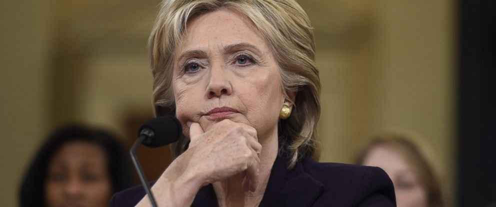 PHOTO: Former Secretary of State and Democratic Presidential hopeful Hillary Clinton testifies before the House Select Committee on Benghazi on Capitol Hill in Washington, Oct. 22, 2015