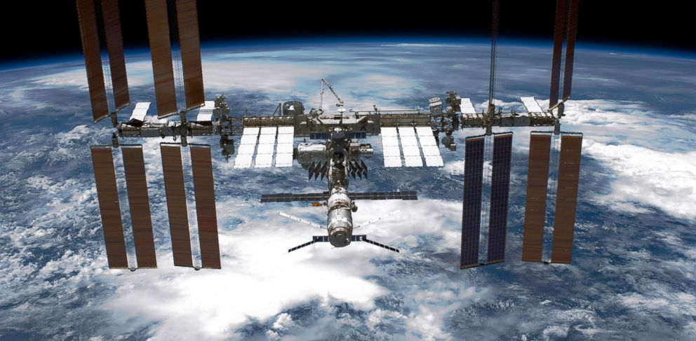 PHOTO: In this handout provided by NASA, back dropped by planet Earth the International Space Station is seen from NASA space shuttle Endeavour after the station and shuttle began their post-undocking relative separation May 29, 2011 in space.