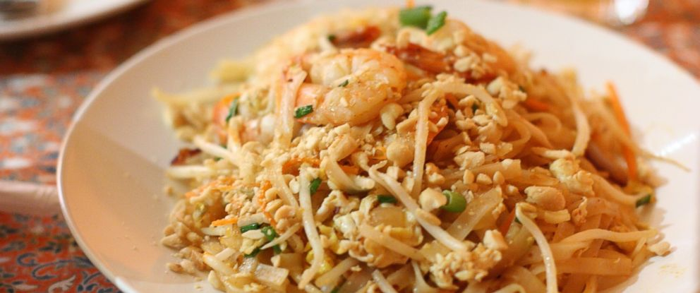 PHOTO: Pad Thai with seafood and peanuts is visible in this stock image.