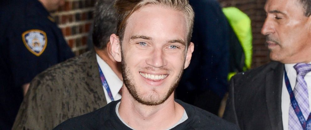 Youtube millionaires meet the top earning stars abc news photo pewdiepie enters the the late show with stephen colbert taping at the m4hsunfo