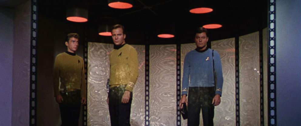 PHOTO: Bruce Watson as Crewman Green, William Shatner as Captain James T. Kirk, and DeForest Kelley as Dr. McCoy in Star Trek the Original Series, Sept. 8, 1966.