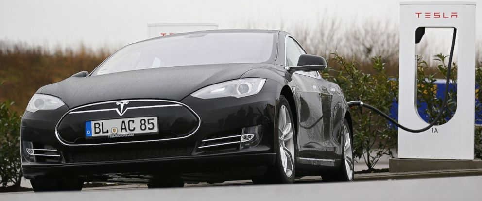Elon Musk Working On SnakeLike Charger For Tesla Cars ABC News - Show me pictures of a tesla car