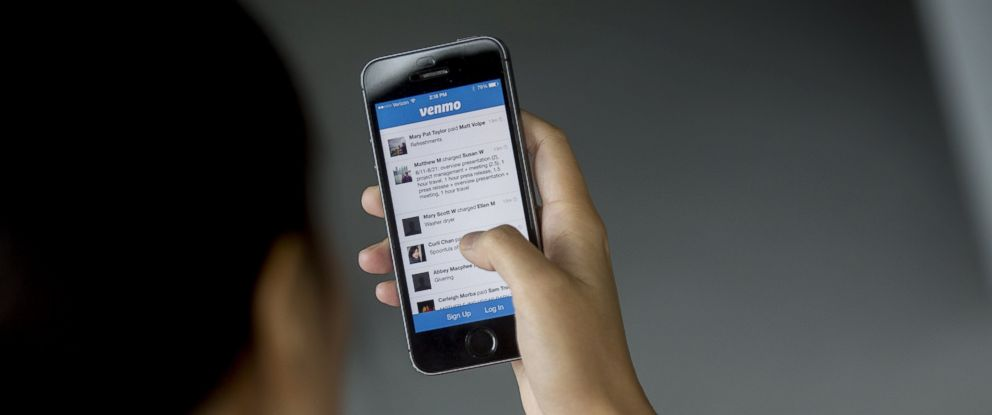 PHOTO: The Venmo app is arranged for a photograph in Washington, in this Aug. 22, 2014 file photo.
