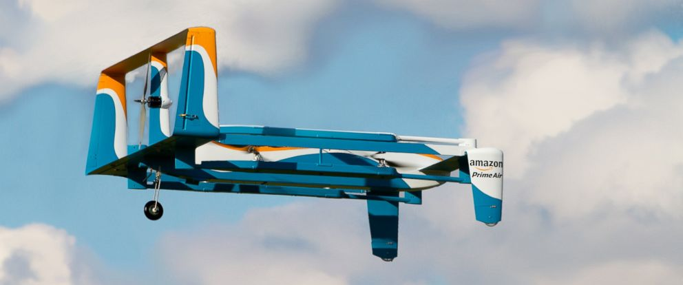 PHOTO: This undated photo shows Amazons drone for its new Prime Air service.