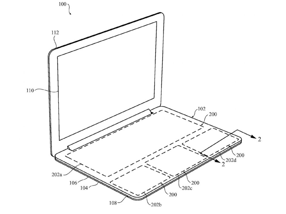 PHOTO: Illustration that appears on the US Patent form that Apple filed for a Configurable force-sensitive input structure for electronic devices.