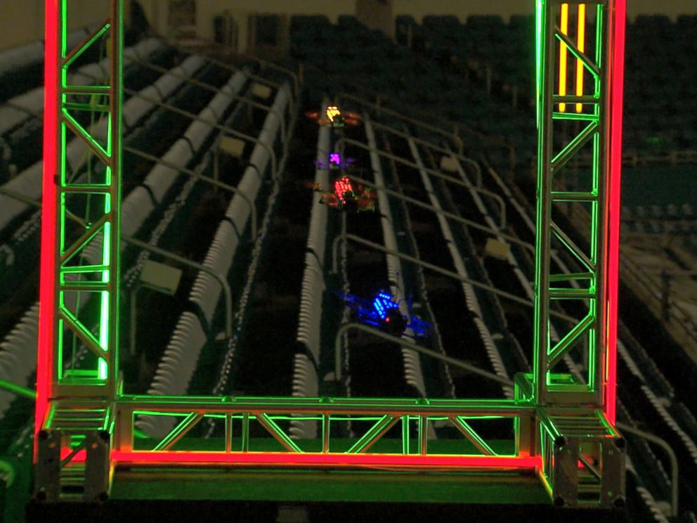 PHOTO: The Drone Racing League is turning high-speed drone races into a spectator sport.