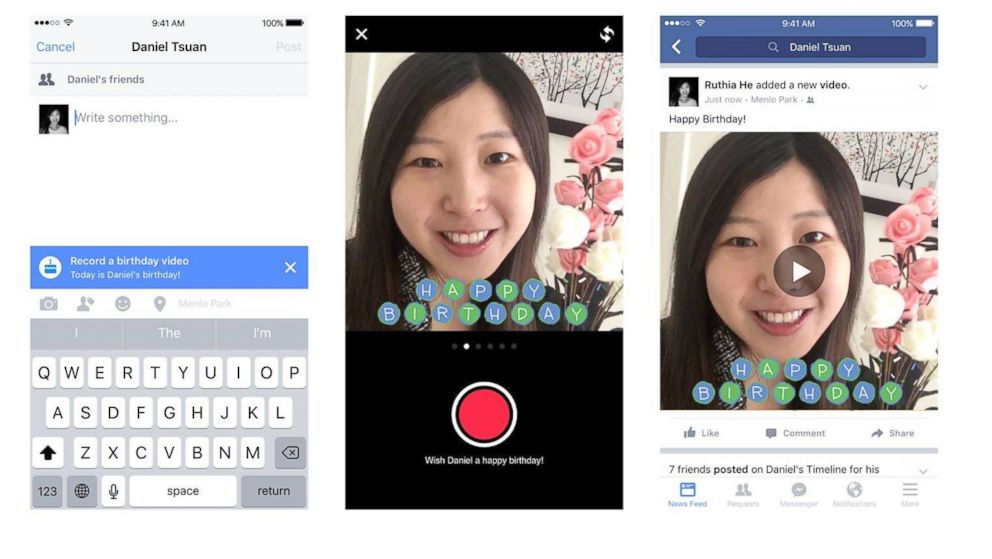 Facebook Is Adding A Birthday Cam Letting Users Send Even More Personalized Wishes
