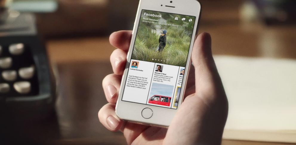 PHOTO: Paper, the first app from Facebook Creative Labs, comes to iPhone on Feb. 3, 2014.
