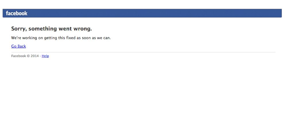 PHOTO: Facebook suffered its second outage in two months.