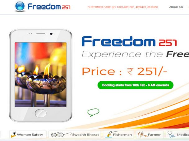 Freedom 251: What the World's Cheapest Smartphone Can Do - ABC News