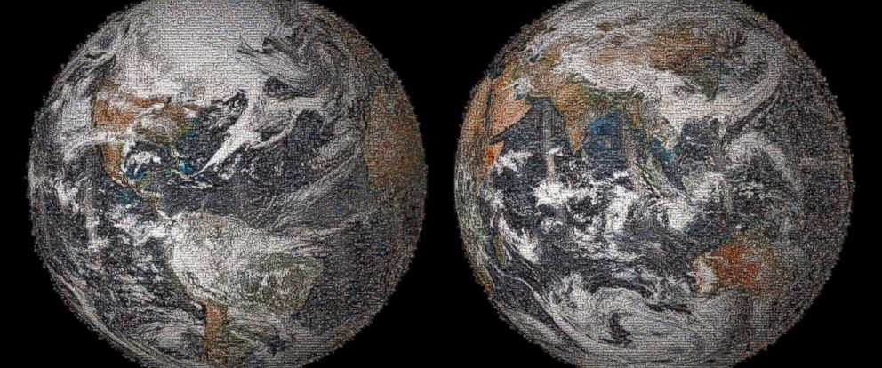 PHOTO: The 3.2 gigapixel Global Selfie mosaic, hosted by GigaPan, was made with 36,422 individual images that were posted to social media sites on or around Earth Day, April 22, 2014.
