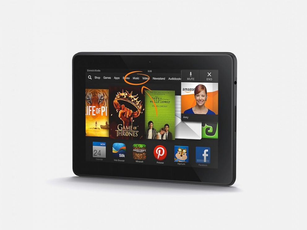PHOTO: The Mayday feature on the Kindle Fire HDX