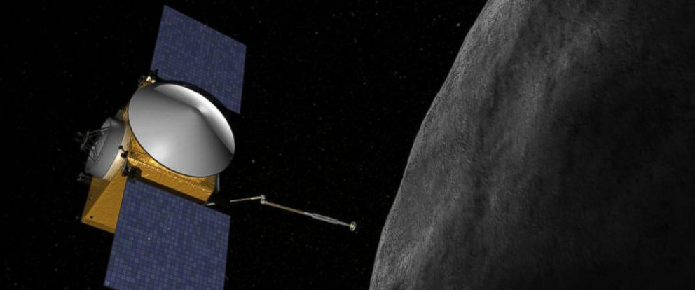 """PHOTO: OSIRIS-REx will be the first U.S. mission to carry samples from an asteroid back to Earth. In 2019, OSIRIS-Rex will approach asteroid 1999 RQ36, or """"Bennu."""""""