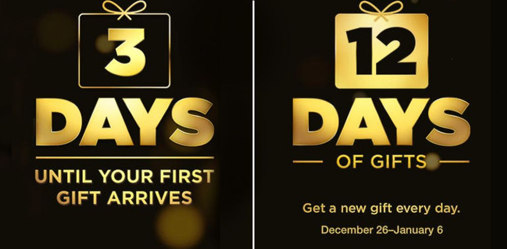 "PHOTO: For 12 days Apple will release free apps, songs, movies and more through its ""12 Days of Gifts"" app."