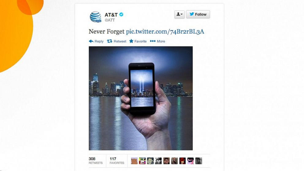 AT&T pulled down this photo and tweet after much backlash.