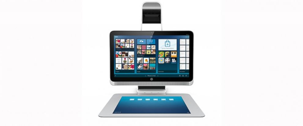 """PHOTO: Hewlett Packard's """"Sprout,"""" is a dual screen desktop computer geared toward innovation and collaboration."""