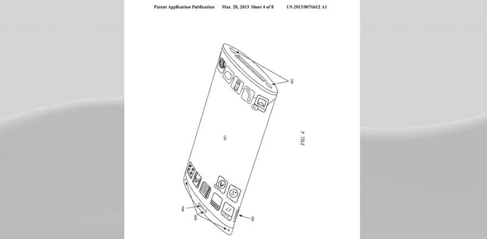 PHOTO: Apple filed a patent for a curved iPhone display back in March of this year.