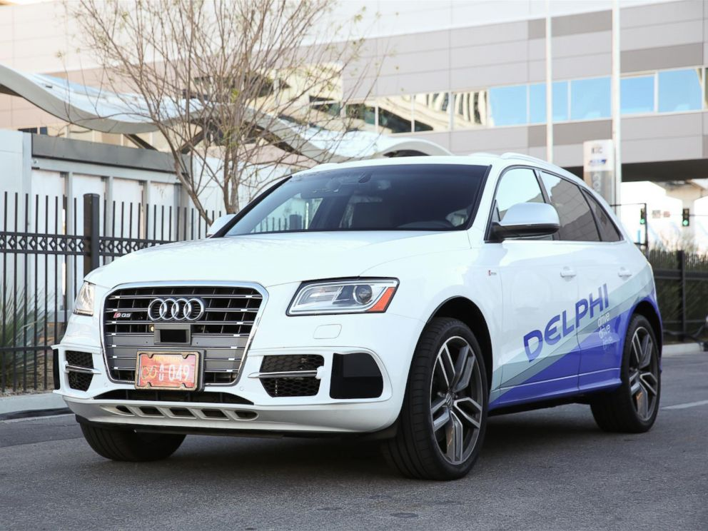 PHOTO: The Delphi Automotive PLC driverless-car is shown in this press photo.