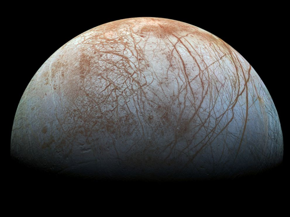 PHOTO: A color view of the surface of Europa.