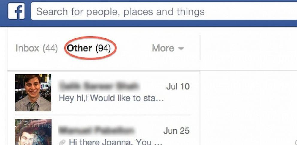 PHOTO: Facebooks Other folder
