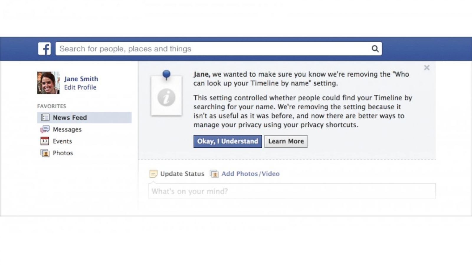Facebook Makes All Of Its Users Searchable - ABC News