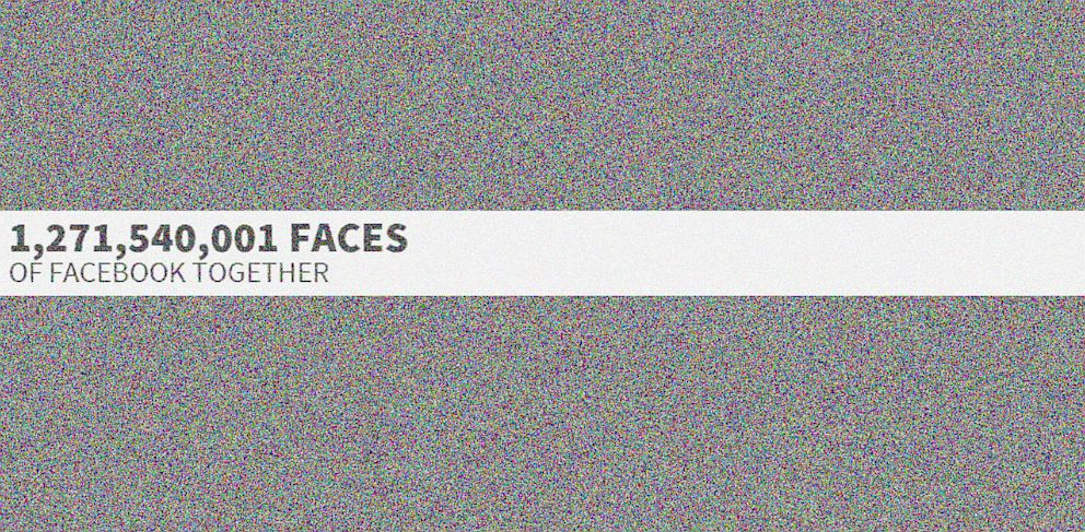 PHOTO: Over 1.2 Billion Facebook Profile Pictures can be seen on the website The Faces of Facebook.