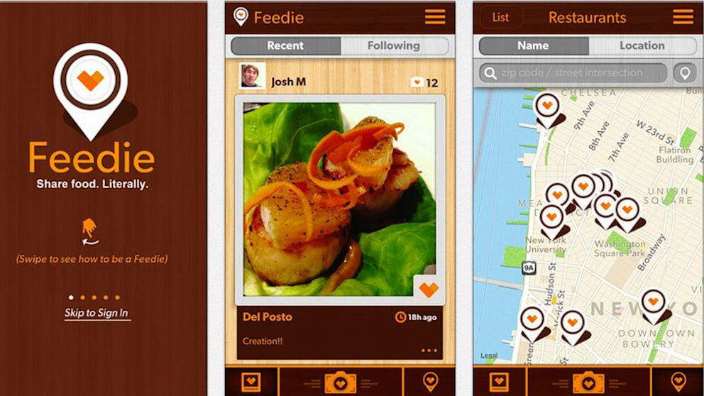 Feedie, and app created by The Lunchbox Fund and Mario Batali, provides users with a way to give back when they post photos of their meals out.