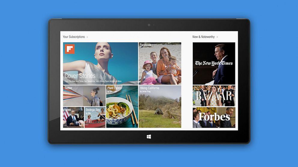 Windows 8 Tablet Momentum Builds with Facebook and Flipboard Apps