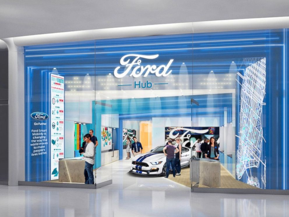 PHOTO: Fords new FordHubs urban storefronts are seen here is seen here in this undated file photo.