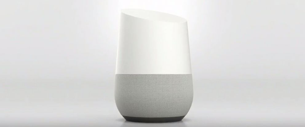 PHOTO: Google Home is seen in this screen grab.
