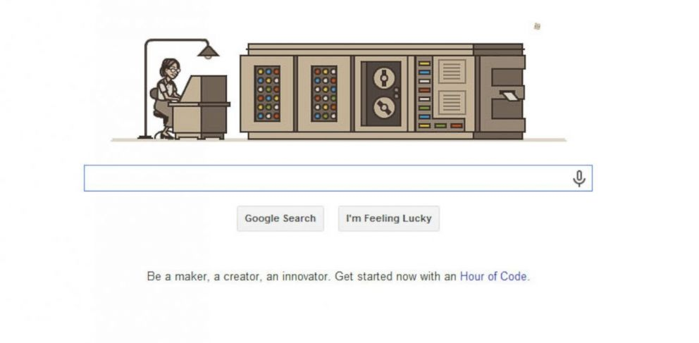PHOTO: Grace Hopper, seen in todays Google Doodle, is often seen as the mother of the COBOL computer programming language.