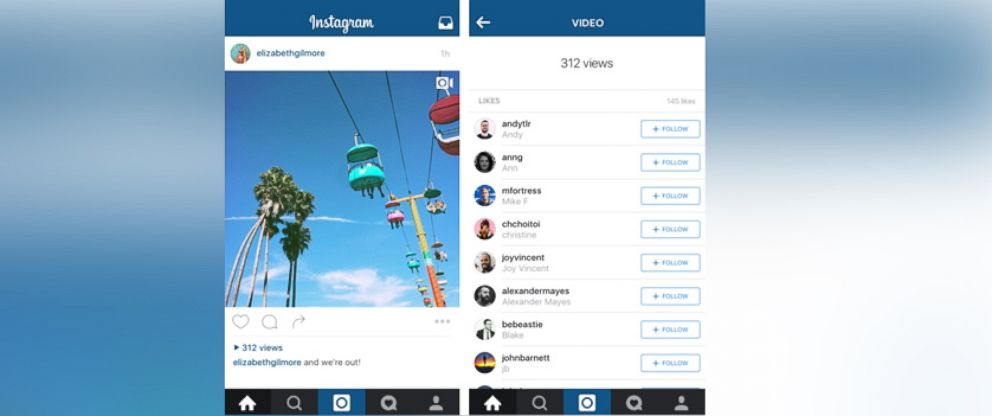 PHOTO: Instagram plans to start counting views on videos.