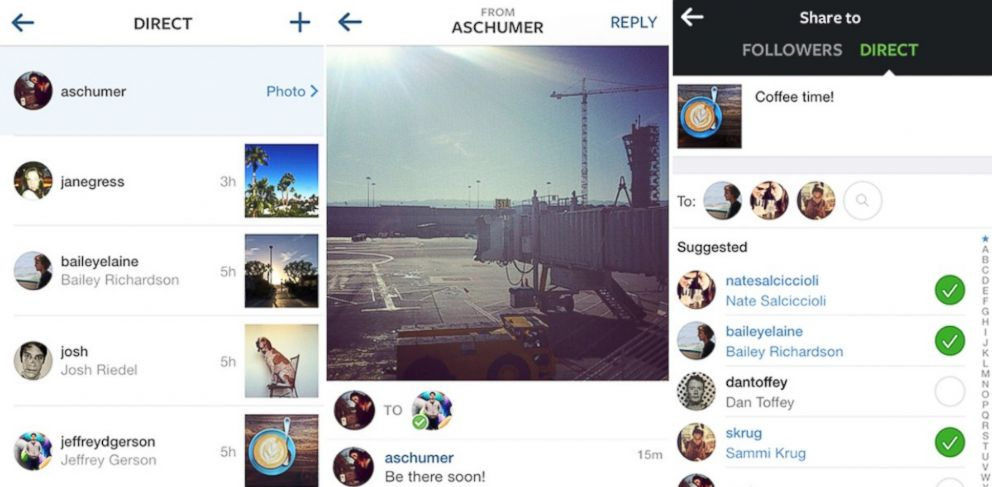 PHOTO: Instagram Direct is a way to send photos privately in Instagram.